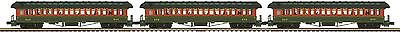 Mth 20-62059  Central Railroad New Jersey 64 Ft.3- Car Woodsided Passenger Set
