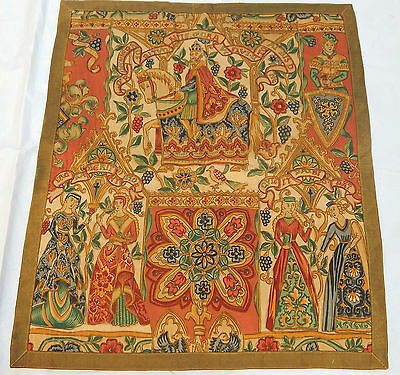 Vintage Print English Design  Beautiful Scene Tapestry 75x64cm (T706)