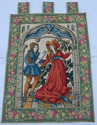 Vintage French Beautiful Tapestry Wall Hanging 42x56cm T320
