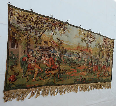 Vintage French Beautiful Singing And Party Scene Tapestry 160x69cm (T601)