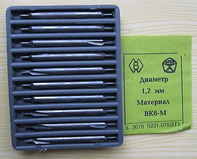 Packing 10 PCS D 1,2 mm CENTER CARBIDE  DRILLS COMBINED .