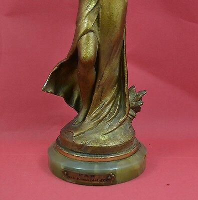 "A fine A Moreau gilt bronze figurine PAX , signed on base , 13.1/4"" high C 1900"