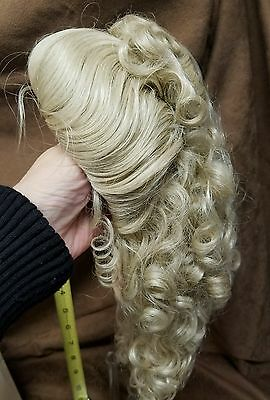 """Global Lady 15""""-16"""" light blonde synthetic Doll wig"""