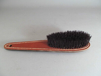 Vintage Leather Handled Clothes Brush