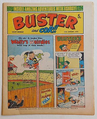 BUSTER and COR Comic - 11th January 1975