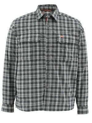 Simms COLDWEATHER Long Sleeve Shirt ~ Black Plaid NEW ~ Size 2XL ~ CLOSEOUT
