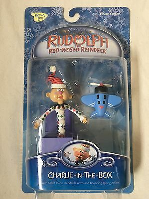"""Rudolph the Red Nose Reindeer """"Charlie in the Box"""" Figure"""