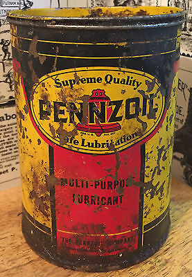 Vintage Pennzoil Milti Purpose Lubricant Can - Gas Station & Oil Advertising
