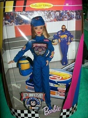 Anniversary Nascar Barbie Collector Edition 50th 1997