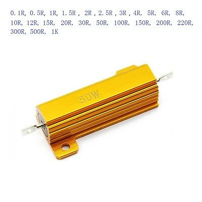 High-power Aluminum Metal Shell Case Housed Heatsink Resistor 0.1R-1K RX24 50W