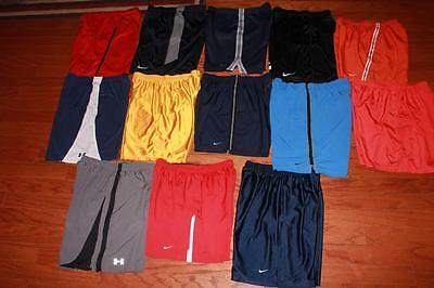 Lot Of 13 Pairs Adult Mens Nike Running Shorts Under Armour Basketball All Large