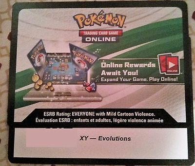 Evolutions code card online Pokemon Trading Card Game NEW UNUSED EMAIL FAST