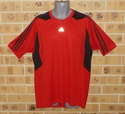 New Mens Adidas Climacool Xl Mens Running Top Red Black