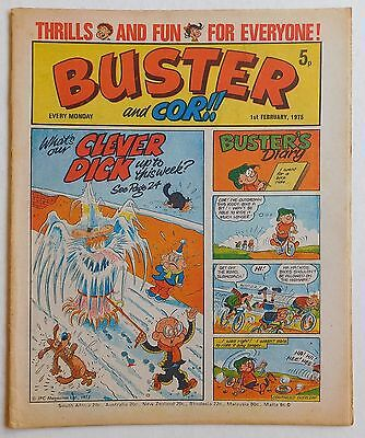 BUSTER and COR Comic - 1st February 1975