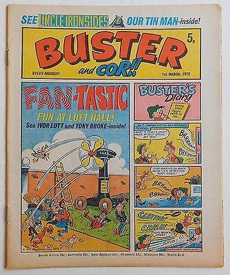 BUSTER and COR Comic - 1st March 1975