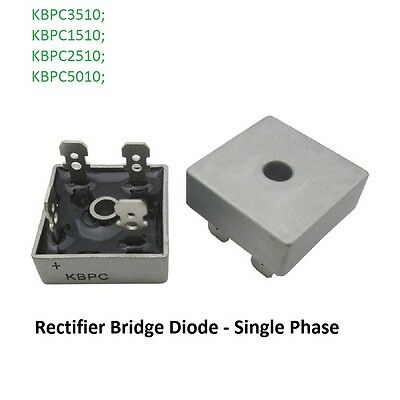 Single Phase - Rectifier Bridge Diode KBPC3510/1510/2510/5010 15A-50A 1000V New!