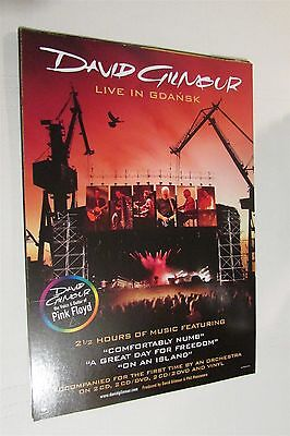 """DAVID GILMOUR Live In Gdansk PINK FLOYD 12x17"""" CD Store Promo Poster"""