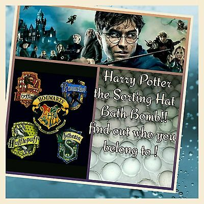 Harry Potter the Sorting Hat Bath Bomb  - Lot of 6 Ultra Lush assorted scent WOW