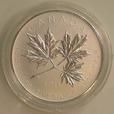 2011 CANADIAN 1/2 oz Silver Coin $10-Maple Leaf Forever COA Display Box W/Sleeve