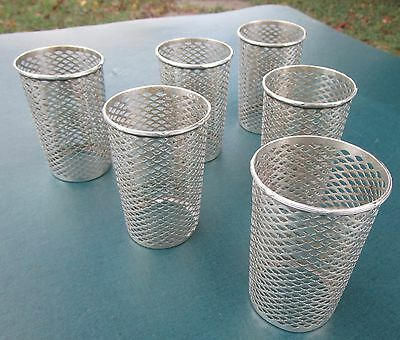 Lot of 6 Vintage Sterling Silver Cup Holders