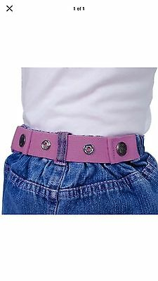 LOT OF 3 DAPPER SNAPPERS ORIGINAL TODDLER SNAP ON BELT LtPink, Dk Pink, Lavender