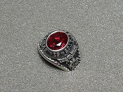 Men's U.S. Marine Corps Ring by Jostens with Red Stone, Size 9.5