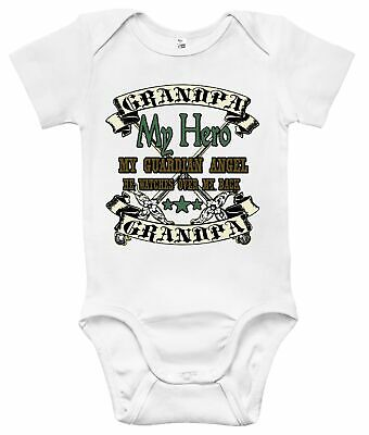 Newborn Infant Kids Baby Boy Girl Romper Bodysuit Jumpsuit Clothes Grandpa Hero