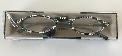 bb088caf091 JIMMY CRYSTAL READING Glasses Swarovski GL314 Zebra Design