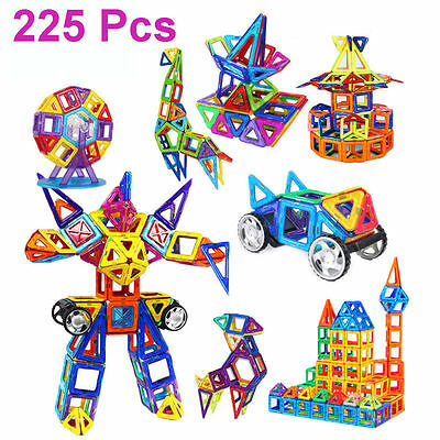 225 PCS All Magnetic Blocks Magspace Magformers Building Sets Construction toys
