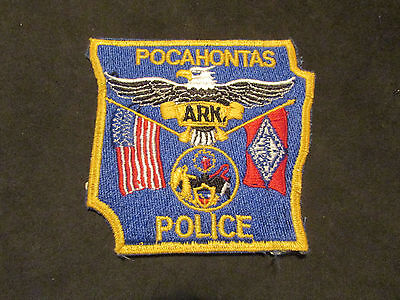 Pocahontas Arkansas Police Patch (Obsolete State Shape)