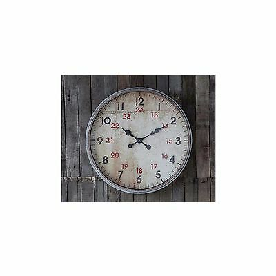 Homeware Office Interior Decoration Antique Grey Finish Rochelle Wall Art Clock