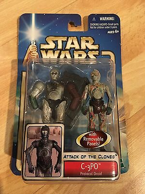 Star Wars C-3PO With Removable Panels Action Figure Attack Of The Clones