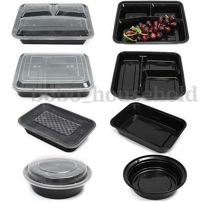 Food Container Meal Prep Storage Microwave Kitchen Lunch Box Lids Takeaway Safe