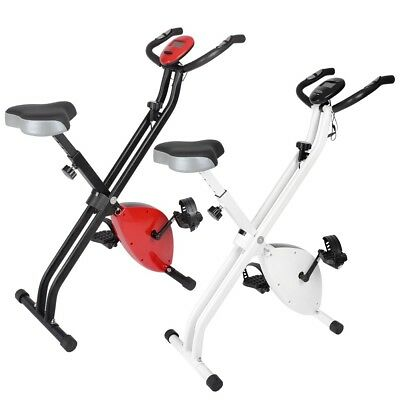 Folding Magnetic Exercise Bike Gym Cycling LCD Display Cardio Stationary Upright