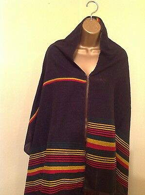 Ethiopian Traditional Shawel 100% cotton Black with Rasta colors