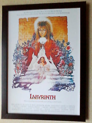Labyrinth (1986) (David Bowie) movie poster framed print