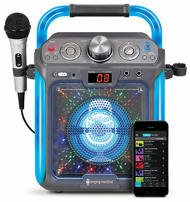 """Singing Machine CD+G Karaoke Bluetooth System Built-In 5"""" Color TFT Monitor New"""