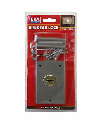 ERA - 176-42T - Door Surface Mounted Rim Deadlock -  4 x 3 inch - Grey