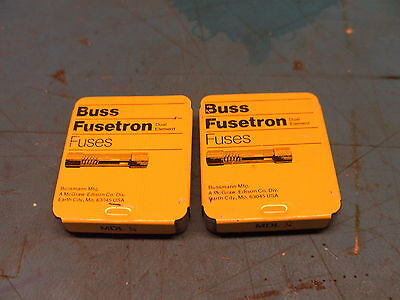 Lot of 10 New Bussmann MDL 1/4 .25A 250mA 250V Elecronic Time Delay Fuses