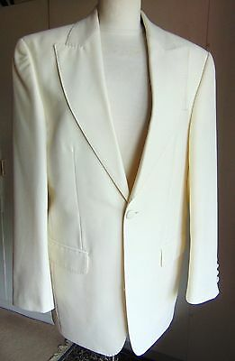 Creamy white tuxedo formal evening jacket prom Hugo James only 3 left James Bond
