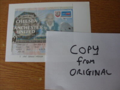 CHELSEA v MANCHESTER UNITED - TICKET COPY CHARITY SHIELD 2000