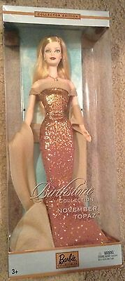 November Topaz Birthstone Collection Birthday Barbie Collector Edition NRFB Rare