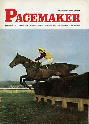 Pacemaker Magazine March 1970 - vintage horse racing publication