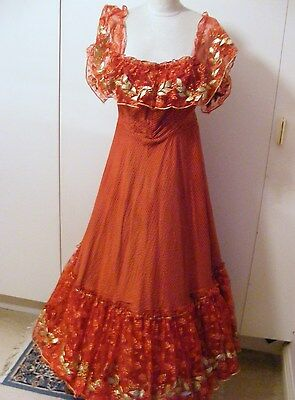 Vintage theatrical Edwardian Victorian ballgown bustle dress 3 available 8 10 14