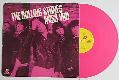 """ROLLING STONES ~ Miss You ~ 12"""" Single PINK VINYL c/w Picture Sleeve, EX/EX"""