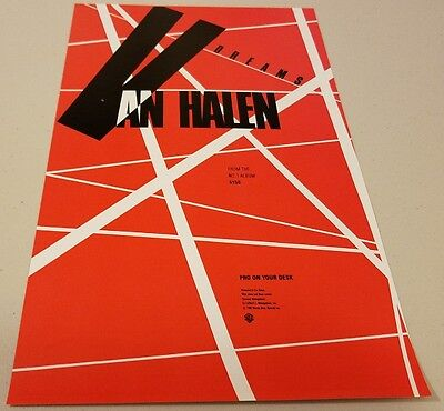 "Album Network - Van Halen (Sammy Hagar) 1986 - ""Dreams"" - 8.5"" x 14"" - Poster"