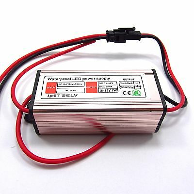 8-12*1W AC Waterproof LED Driver Transformer Switch Power Supply IP67 DIY H46