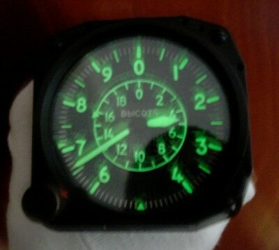 VD-20 Vintage USSR Russian Military Aircraft Altimeter
