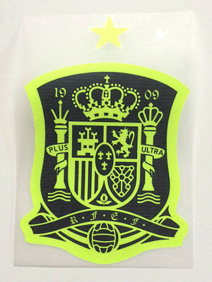 Spain Away Crest Patch 2016-17 Soccer Badge Plastic Iron on Sticker Top Quality