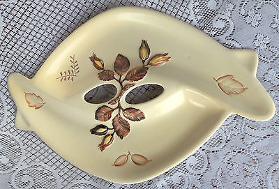 Carlton Ware Contemporary Piece Cream with brown leafs/Buds/ (283)